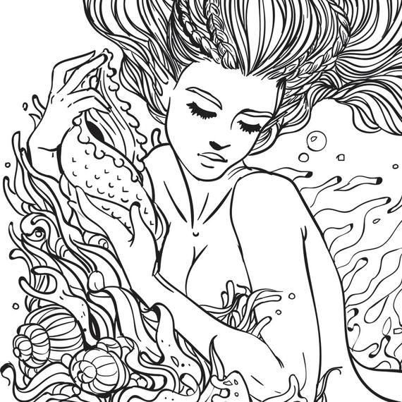 detailed beautiful mermaid mermaid coloring pages creative haven magnificent mermaids coloring book beautiful coloring detailed mermaid mermaid pages