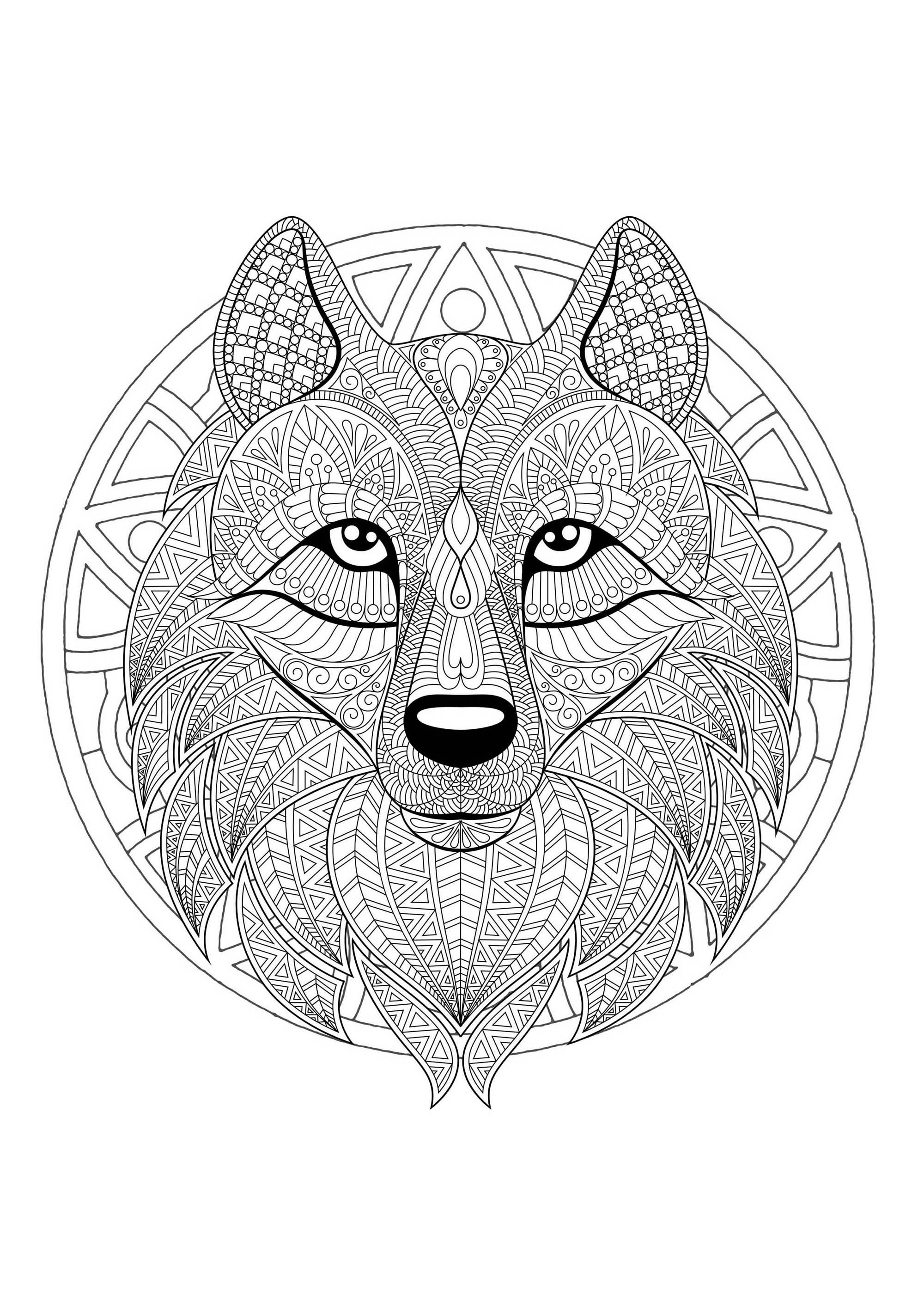 detailed mandala coloring pages detailed lion head mandala mandalas with animals 100 mandala coloring detailed pages
