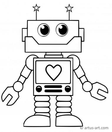 detailed robot coloring pages printable robot coloring pages for kids detailed robot coloring pages