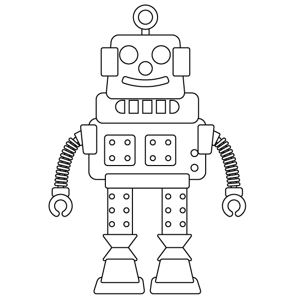 Detailed robot coloring pages