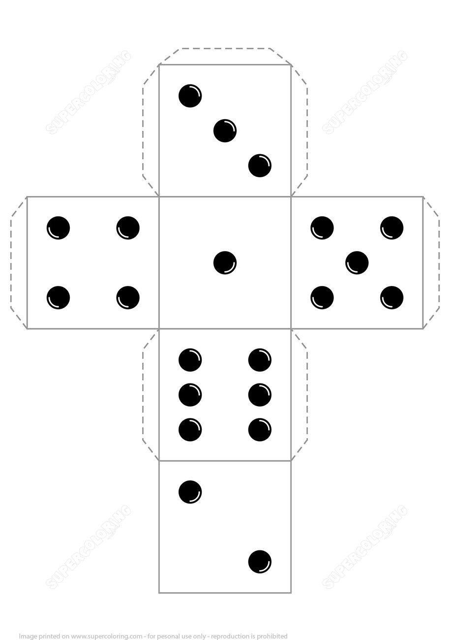 dice template 6 dice number clipart picture black and white download template dice