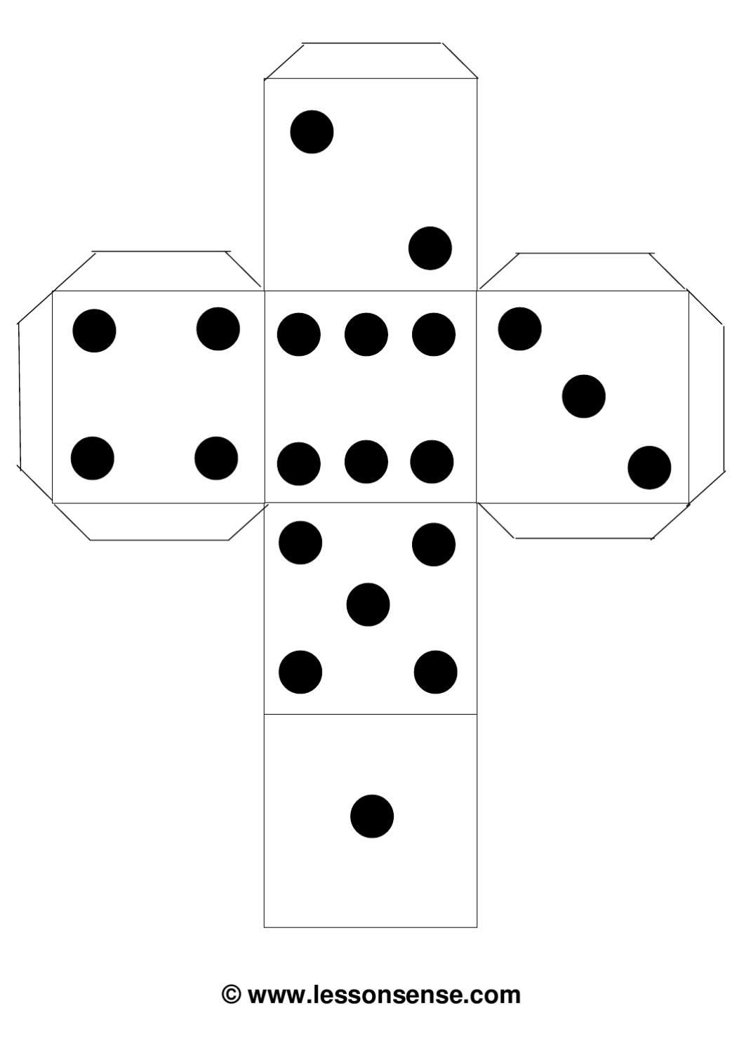 dice template dice dots template by erin moore issuu dice template