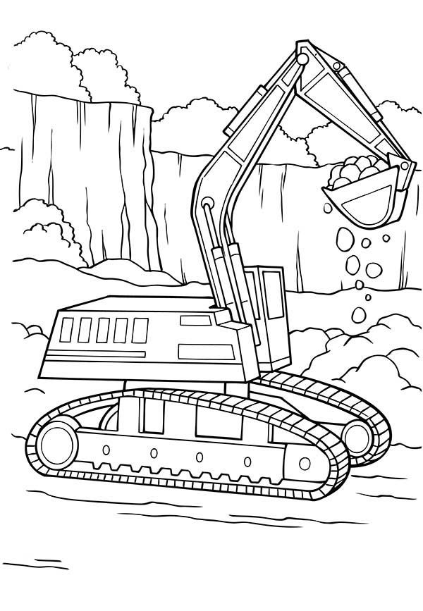 digger coloring pages awesome drawing of a digger coloring page awesome drawing pages coloring digger