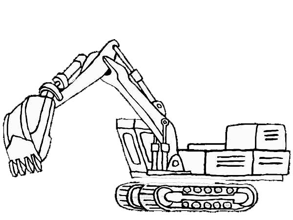 digger coloring pages awesome excavator in digger coloring page color luna coloring digger pages