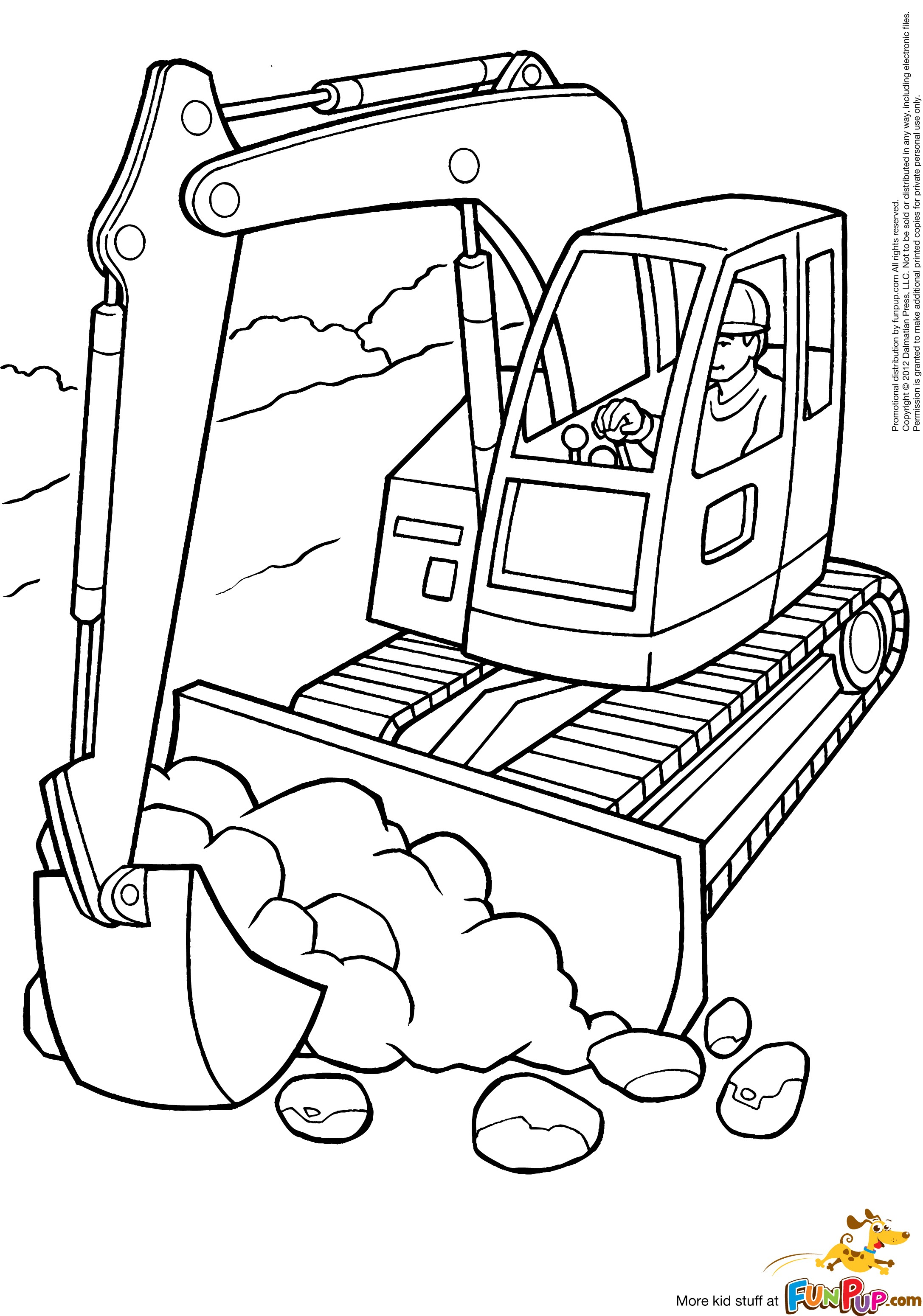 digger coloring pages digger sketch at paintingvalleycom explore collection coloring pages digger