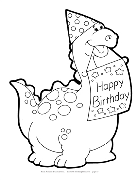 dinosaur happy birthday coloring pages 1000 images about birthday on pinterest birthday cakes dinosaur pages birthday coloring happy