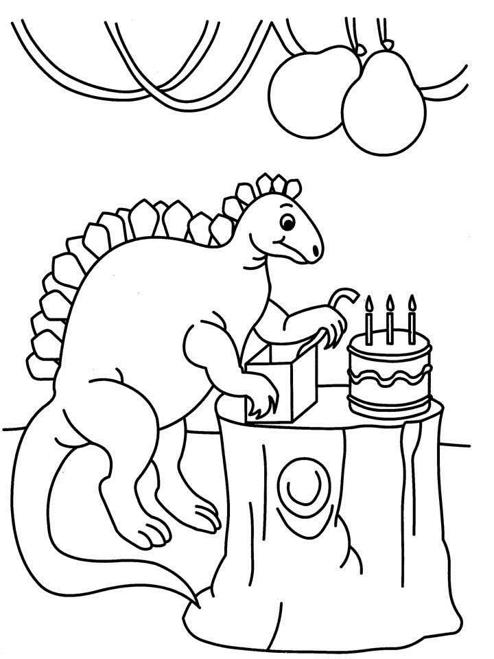 dinosaur happy birthday coloring pages birthday cake coloring pages for kids coloring home dinosaur coloring happy birthday pages