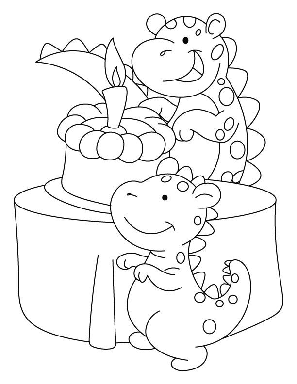 dinosaur happy birthday coloring pages dinosaur birthday coloring pages at getdrawings free happy pages coloring birthday dinosaur