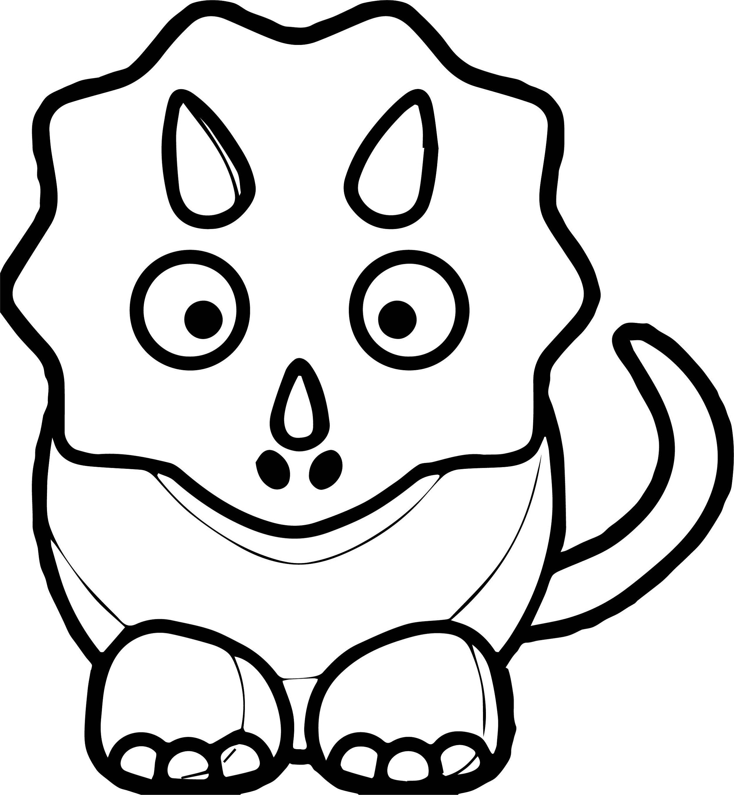 dinosaur printout free printable triceratops coloring pages for kids dinosaur printout 1 1
