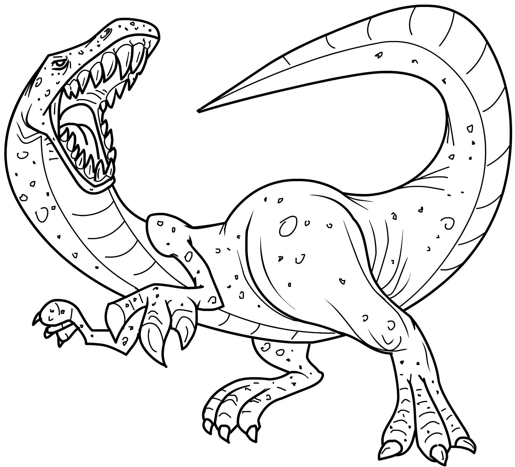 Dinosaurs coloring page