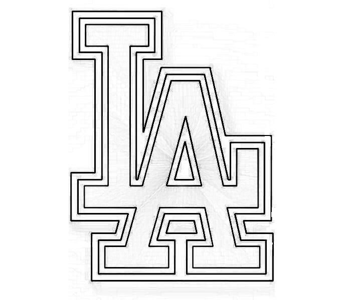 dodgers baseball coloring pages dodgers baseball logo coloring page coloring pages pages dodgers baseball coloring