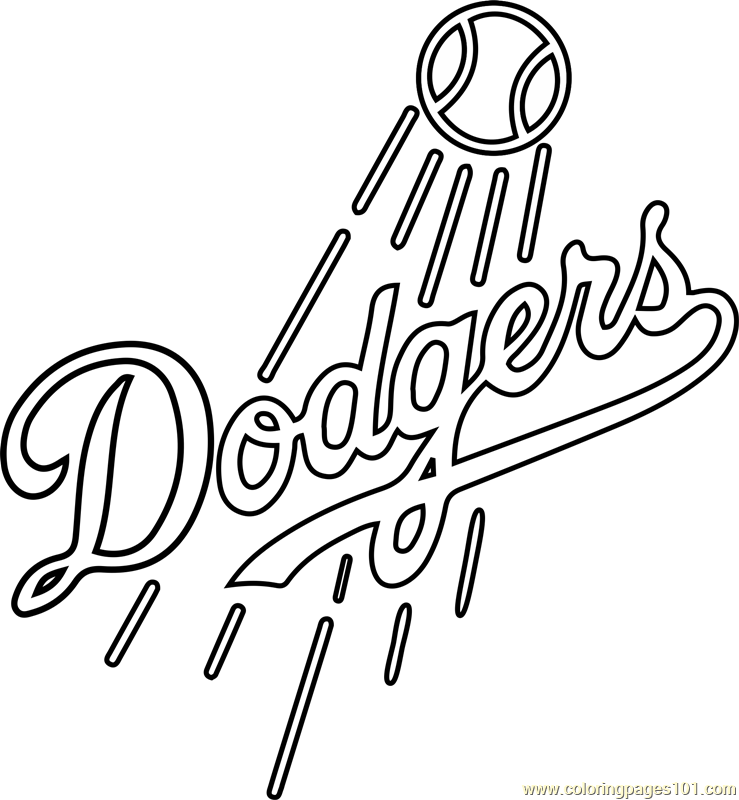 Dodgers baseball coloring pages
