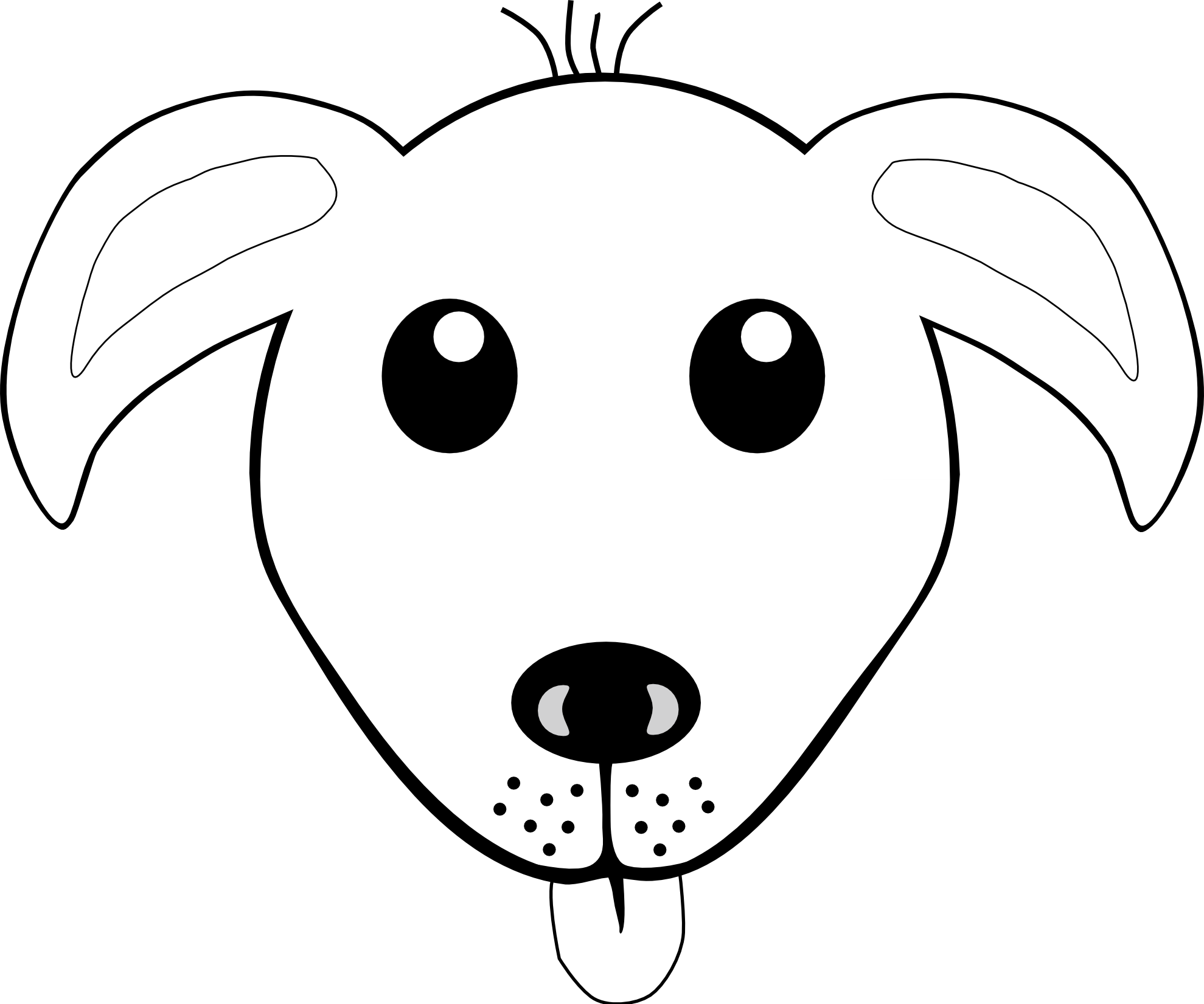 Dog head coloring pages