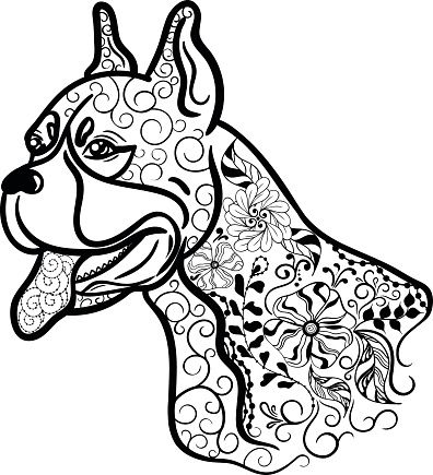 dog head coloring pages mandala with cute dog head and geometric patterns malas pages dog head coloring