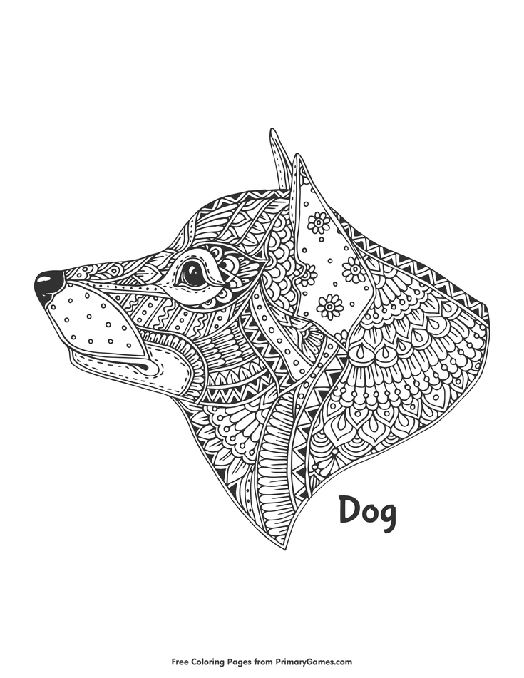 dog head coloring pages zentangle dog head coloring page free printable ebook dog head pages coloring