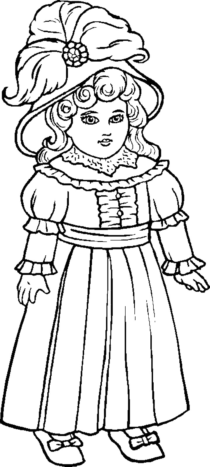 dolls colouring pages baby doll coloring page at getdrawings free download dolls colouring pages