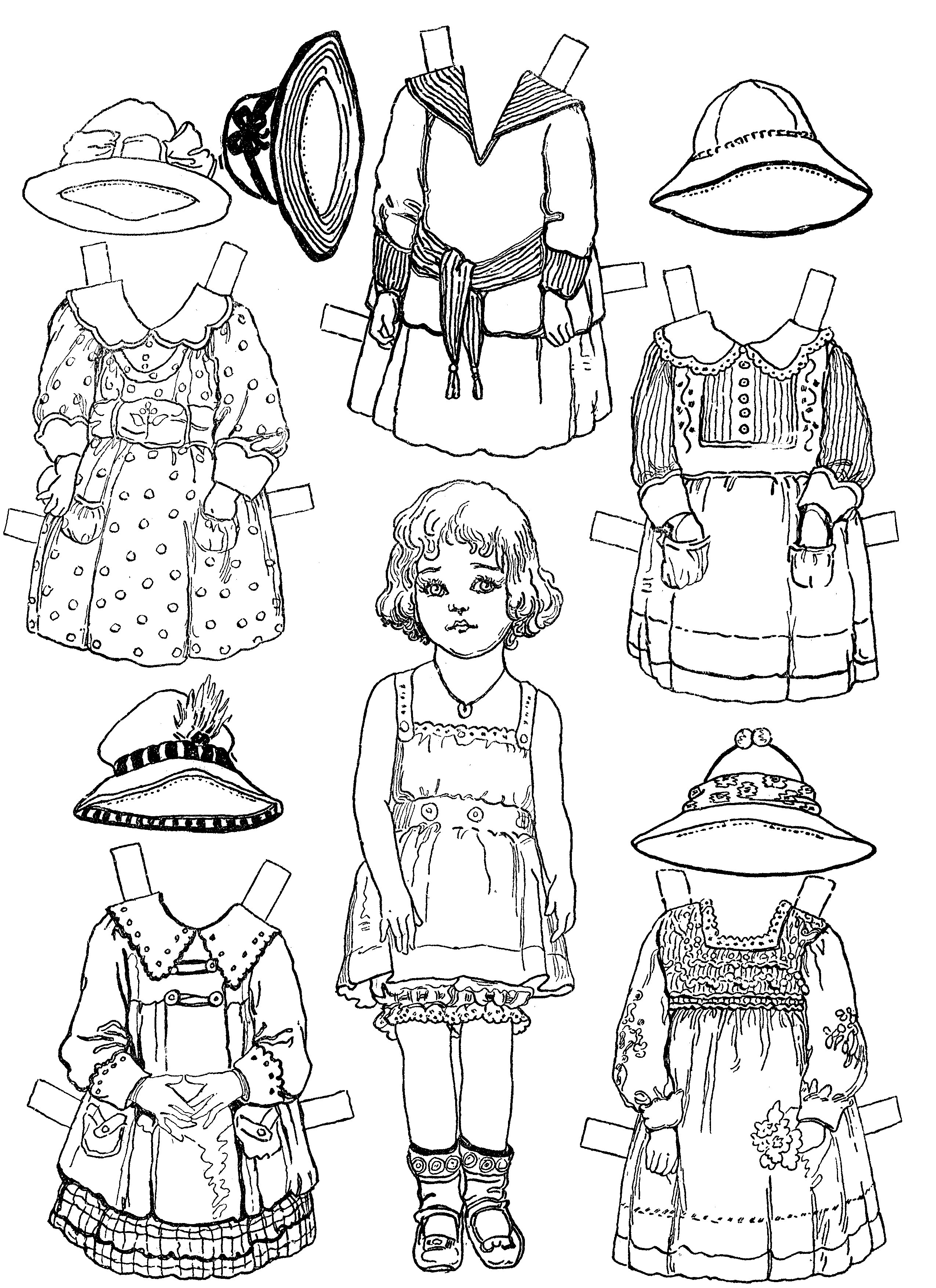 dolls colouring pages doll coloring pages getcoloringpagescom dolls colouring pages