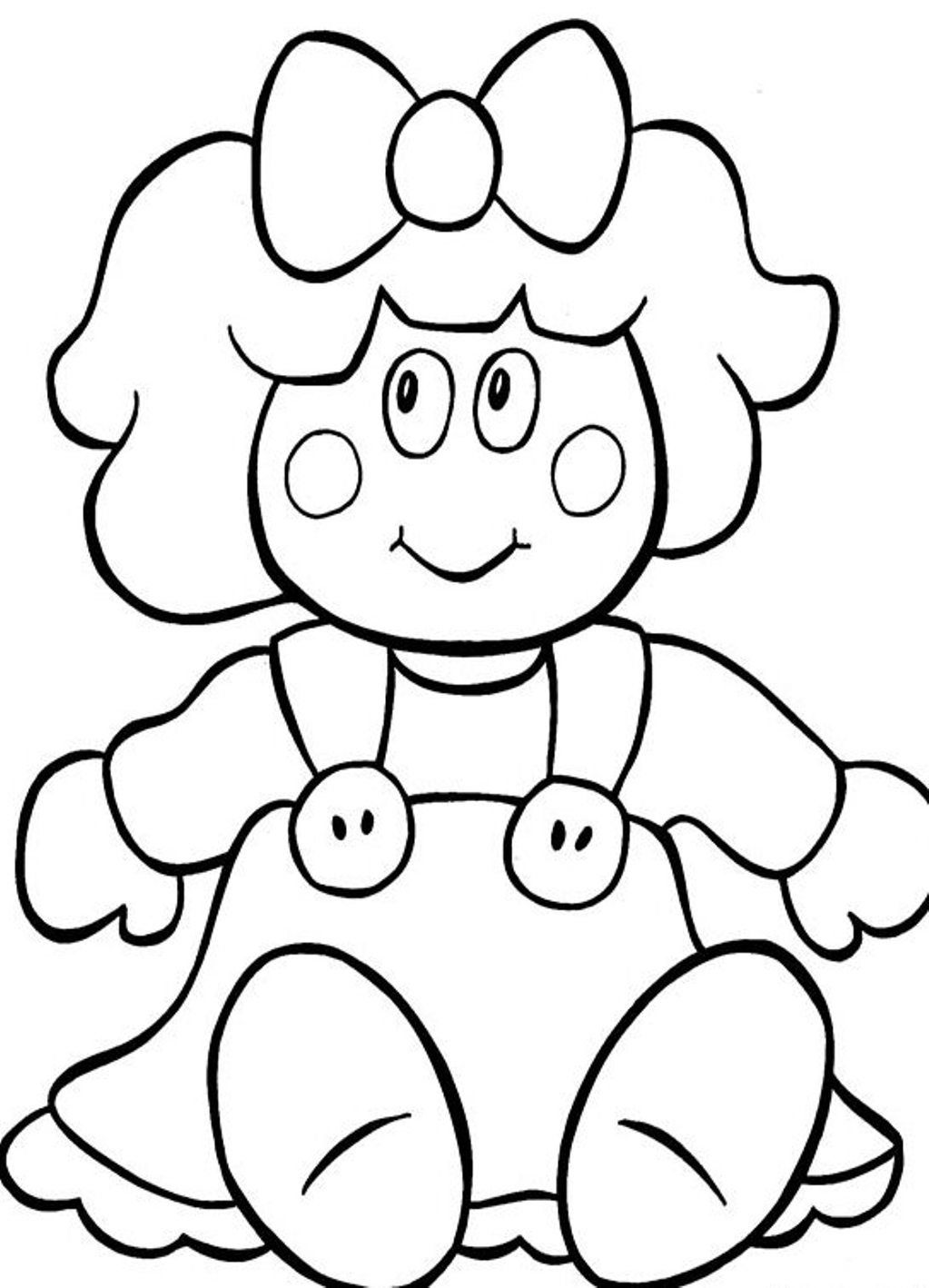 Dolls colouring pages