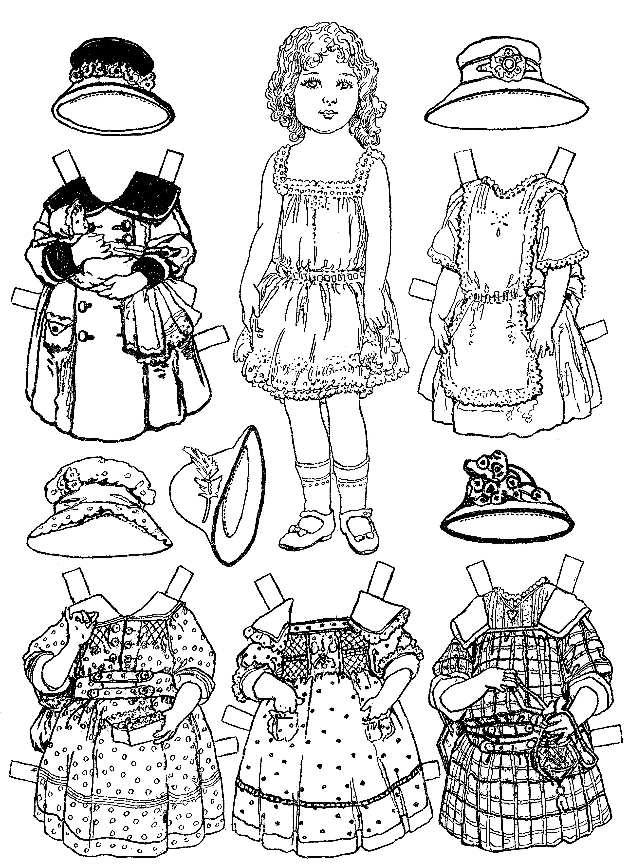 dolls colouring pages free printable paper doll coloring pages for kids dolls colouring pages