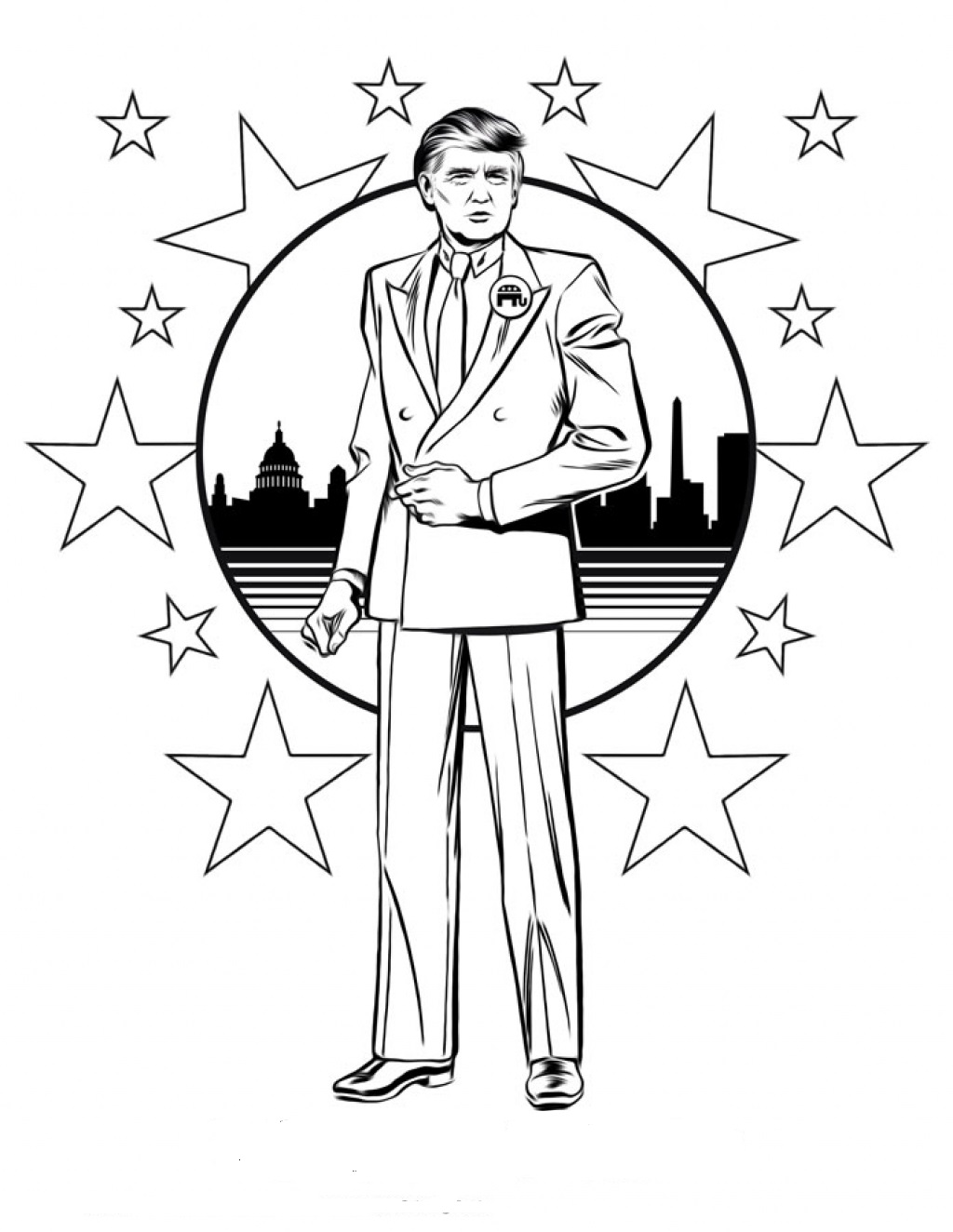 donald trump coloring sheet donald trump 2016 coloring pages printable for kids donald coloring trump sheet