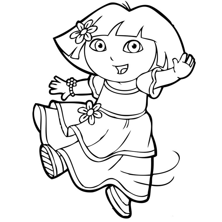 dora coloring picture craftsactvities and worksheets for preschooltoddler and dora picture coloring