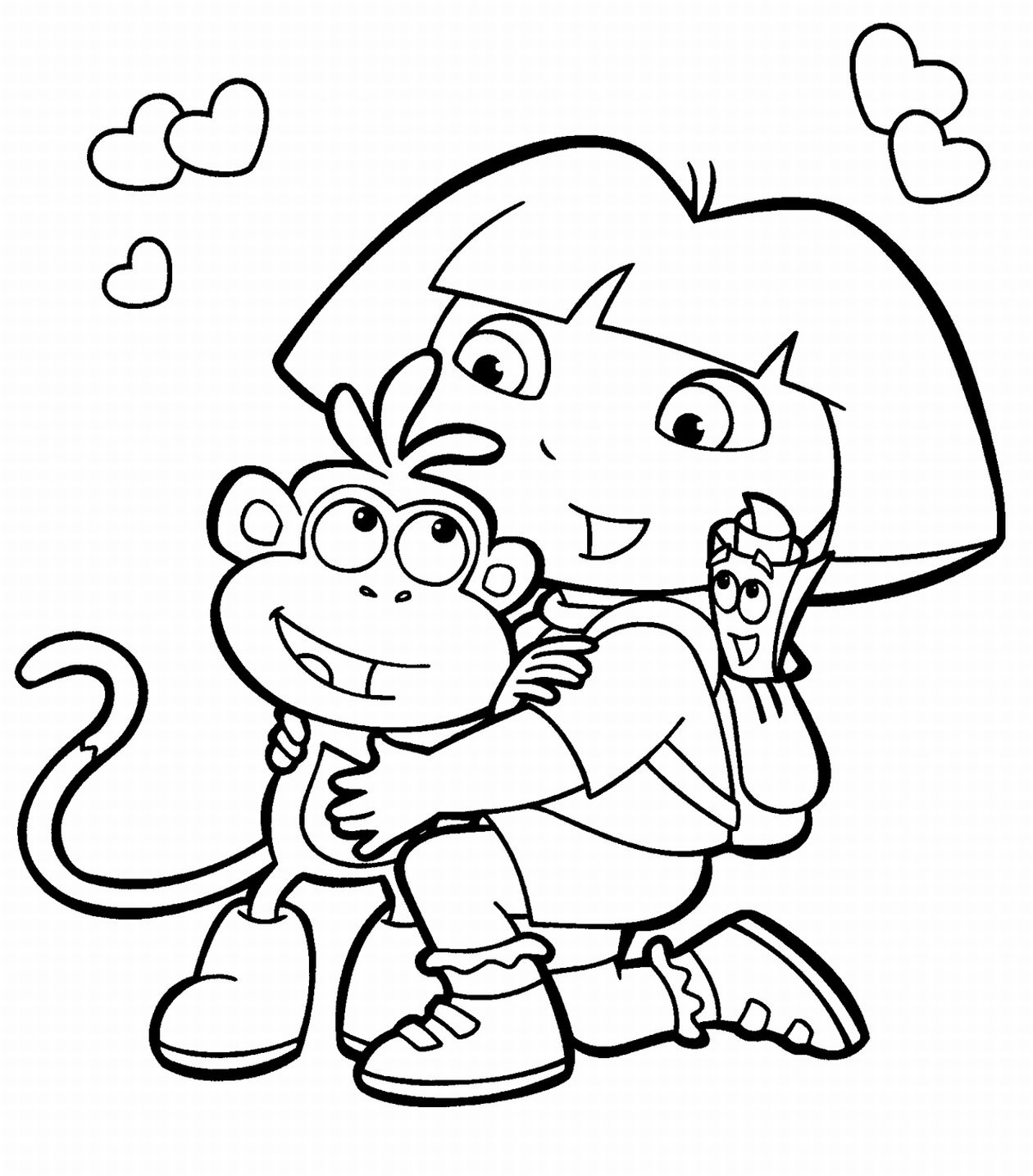 dora coloring picture dora drawing pictures at getdrawings free download dora coloring picture