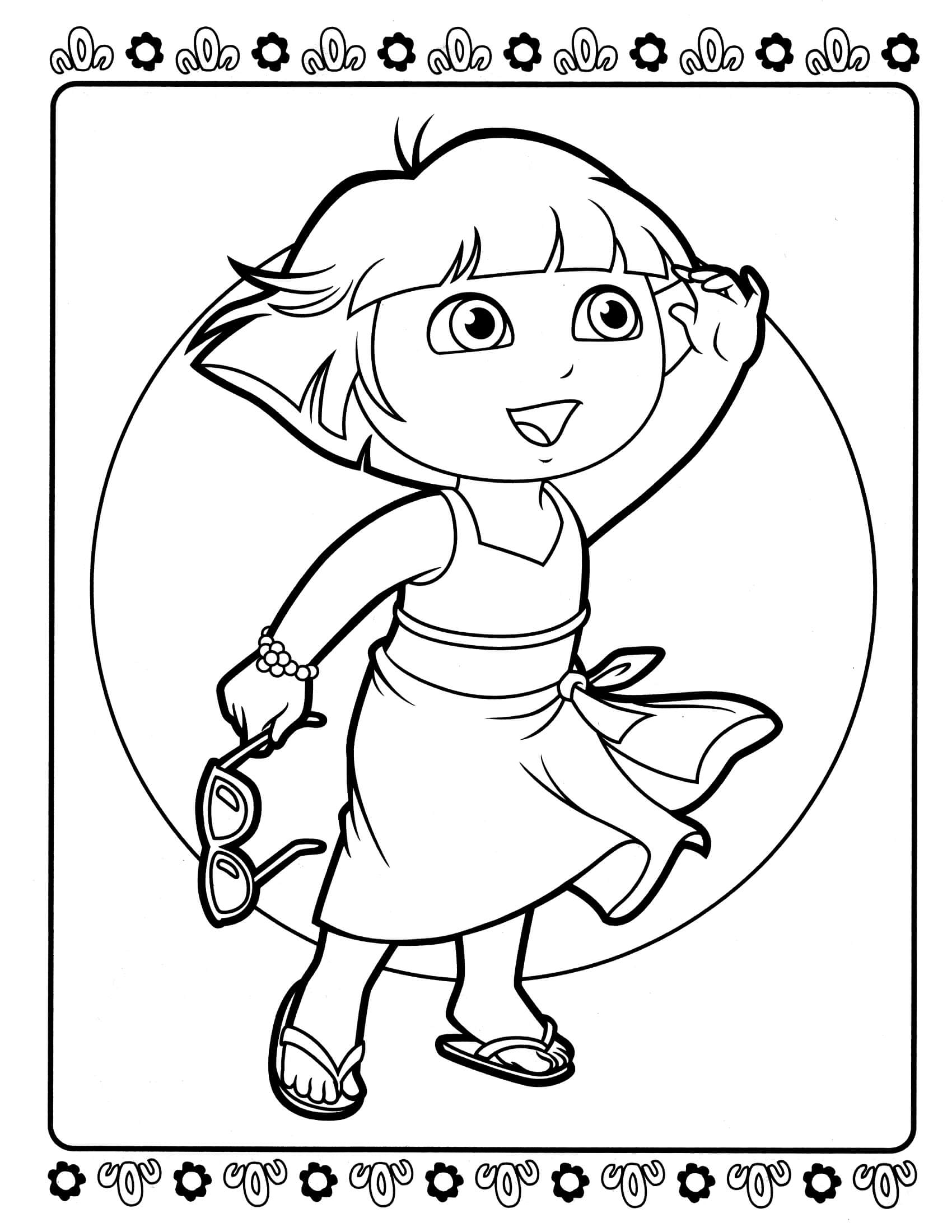 dora coloring picture print download dora coloring pages to learn new things dora picture coloring