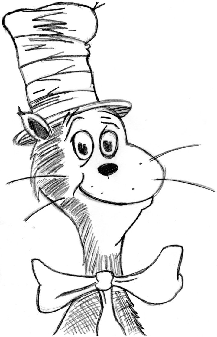 dr seuss coloring pages printable funny Сat in the hat coloring pages for kids printable dr coloring printable pages seuss