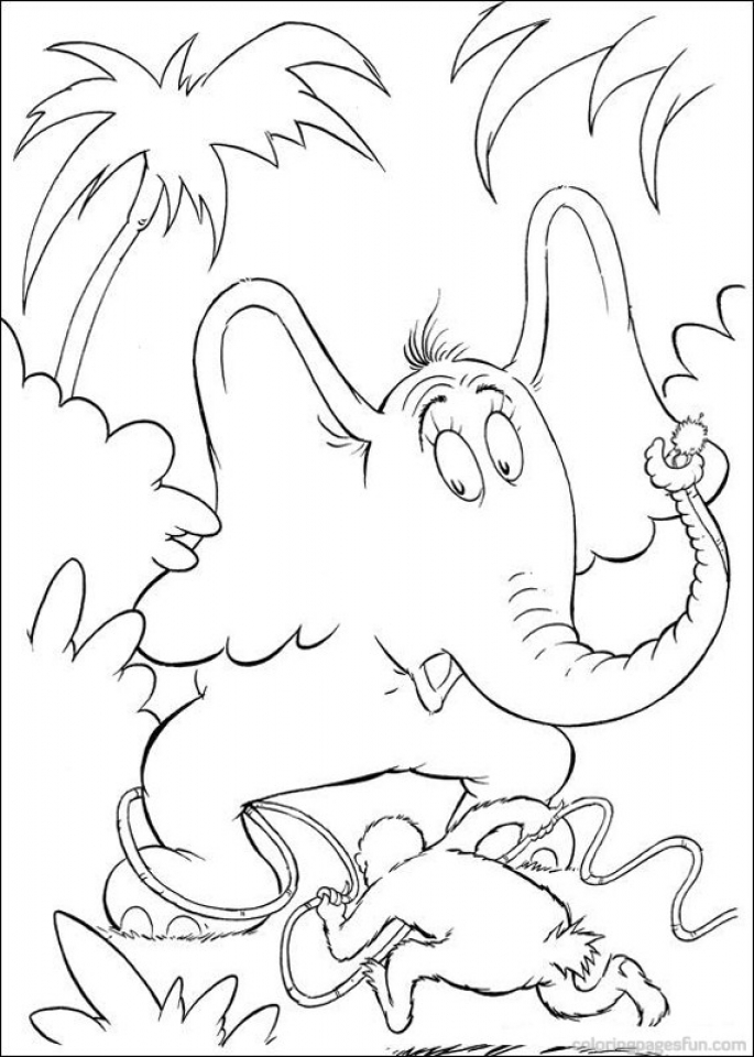 dr seuss printable coloring pages kids n funcom 65 coloring pages of horton dr seuss seuss coloring pages dr printable