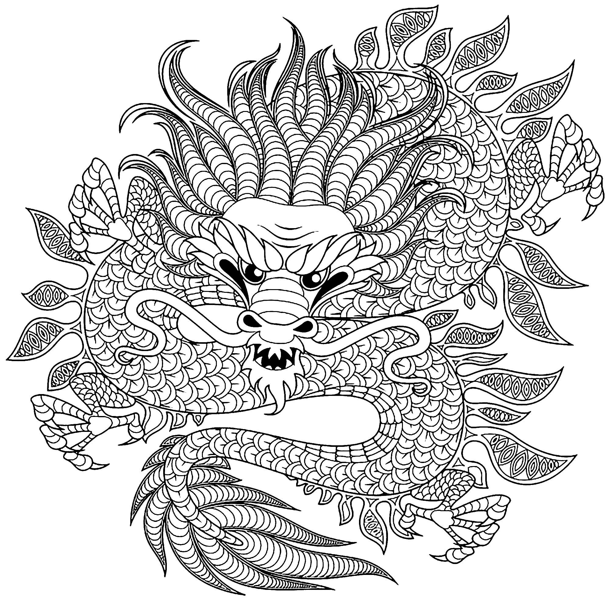 dragon coloring page chinese dragon coloring pages to download and print for free page dragon coloring