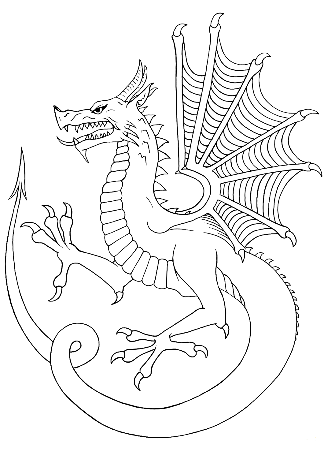 dragon coloring pages free advanced dragon coloring pages at getdrawings free download coloring free dragon pages