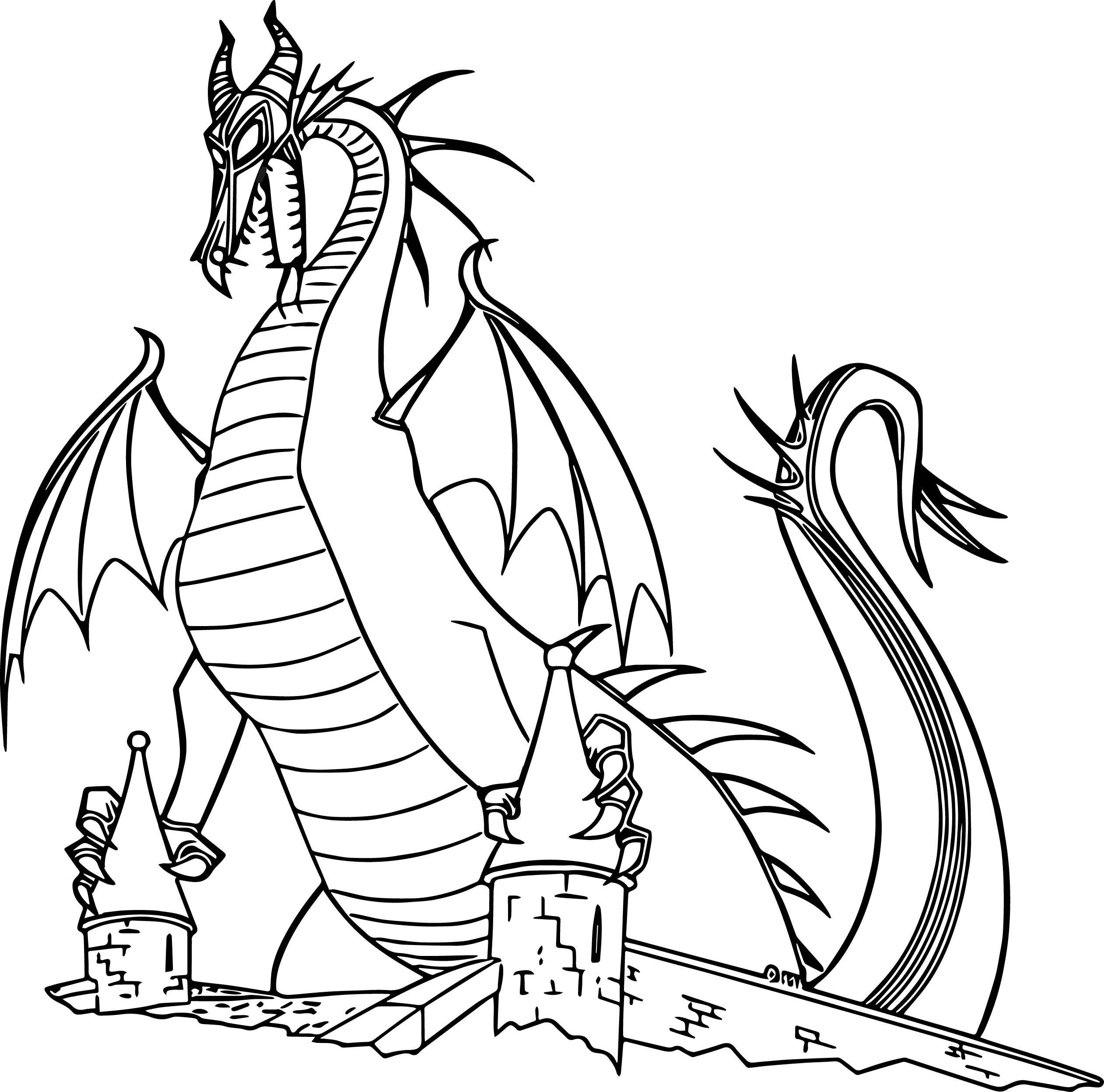 dragon coloring pages free sleeping beauty dragon coloring page free printable coloring free dragon pages