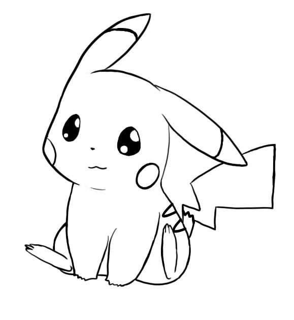 draw pikachu cute pikachu coloring pages for kids aesthetic name pikachu draw