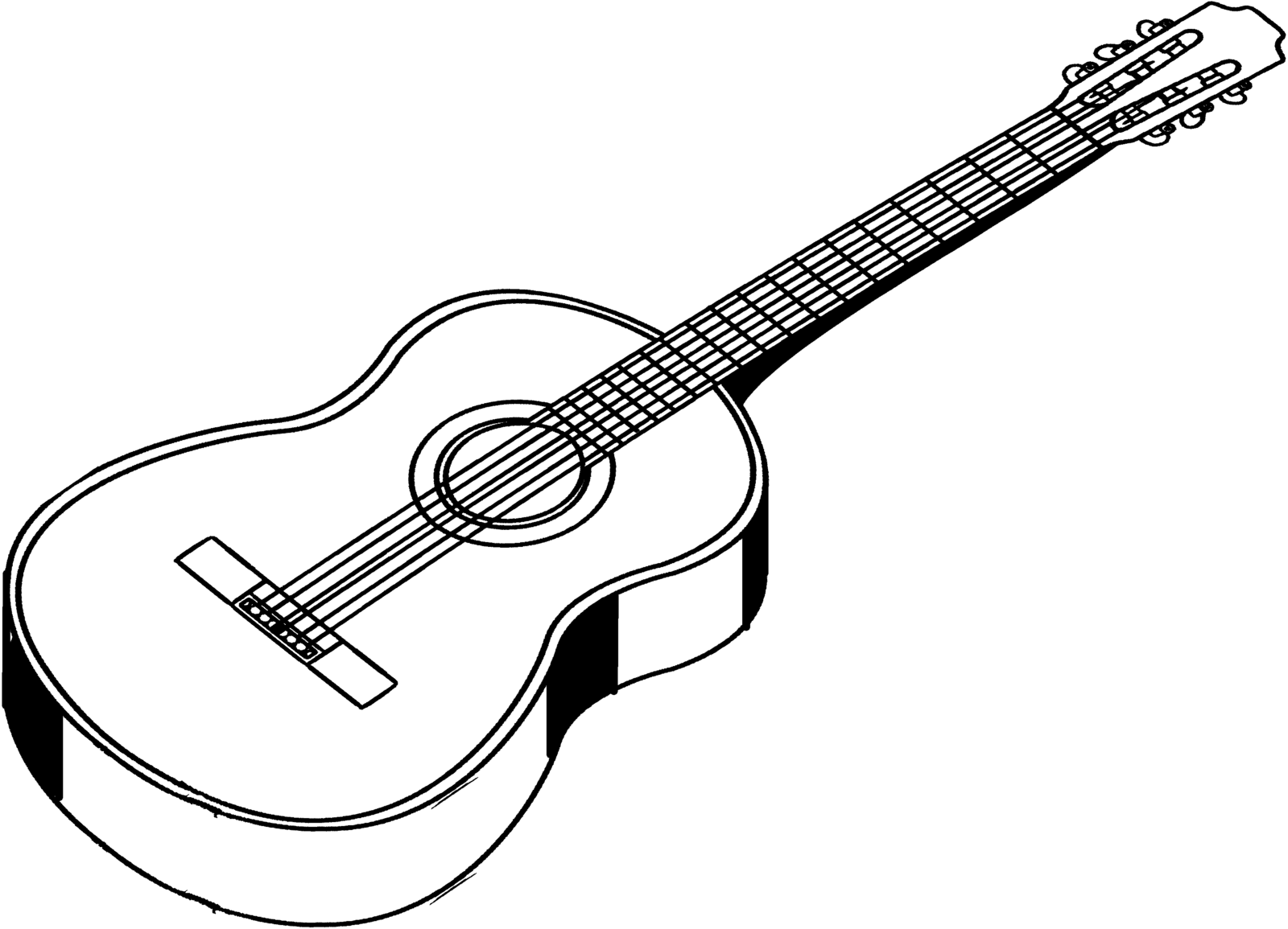 drawing guitar big guitar outline drawing at getdrawings free download guitar drawing