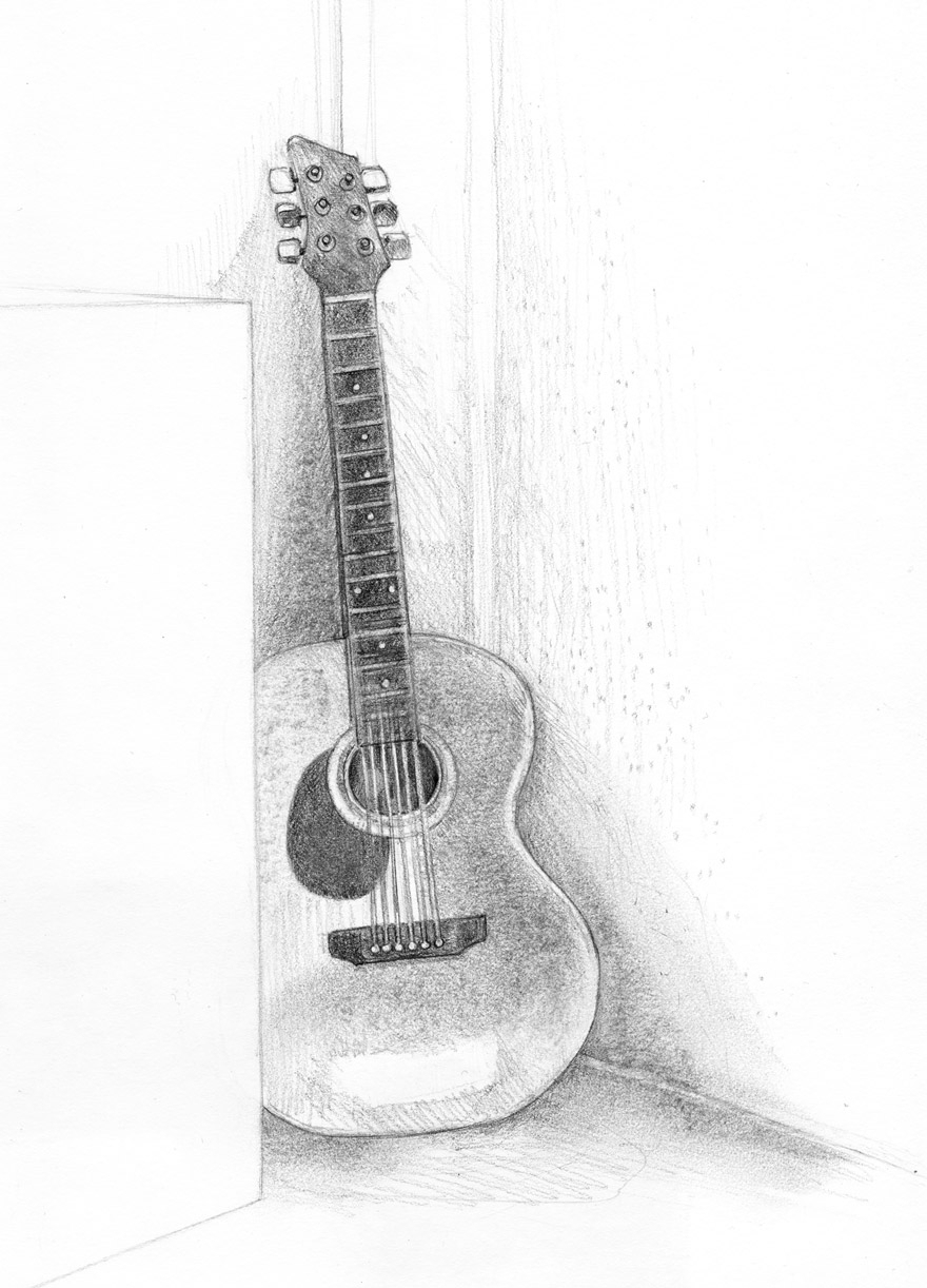 drawing guitar fossforous tuesday things guitar drawing guitar