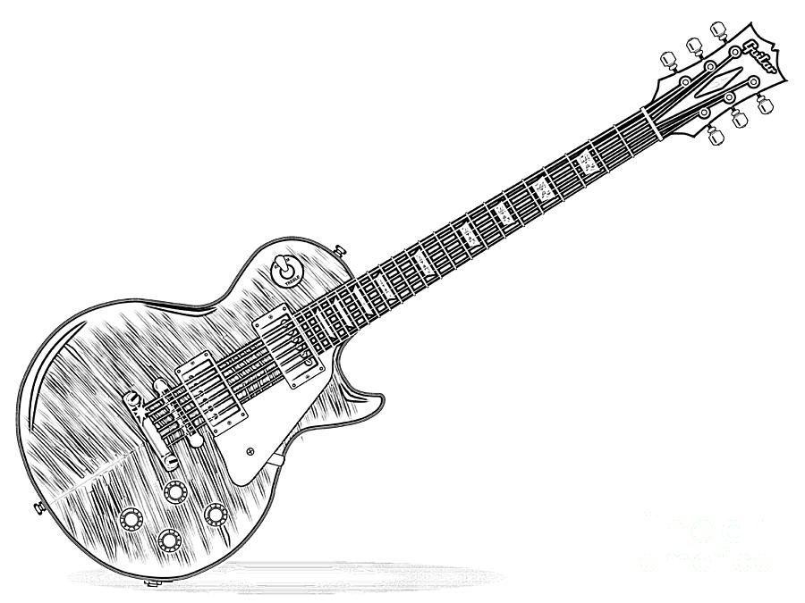 drawing guitar how to draw a electric guitar step by step string guitar drawing