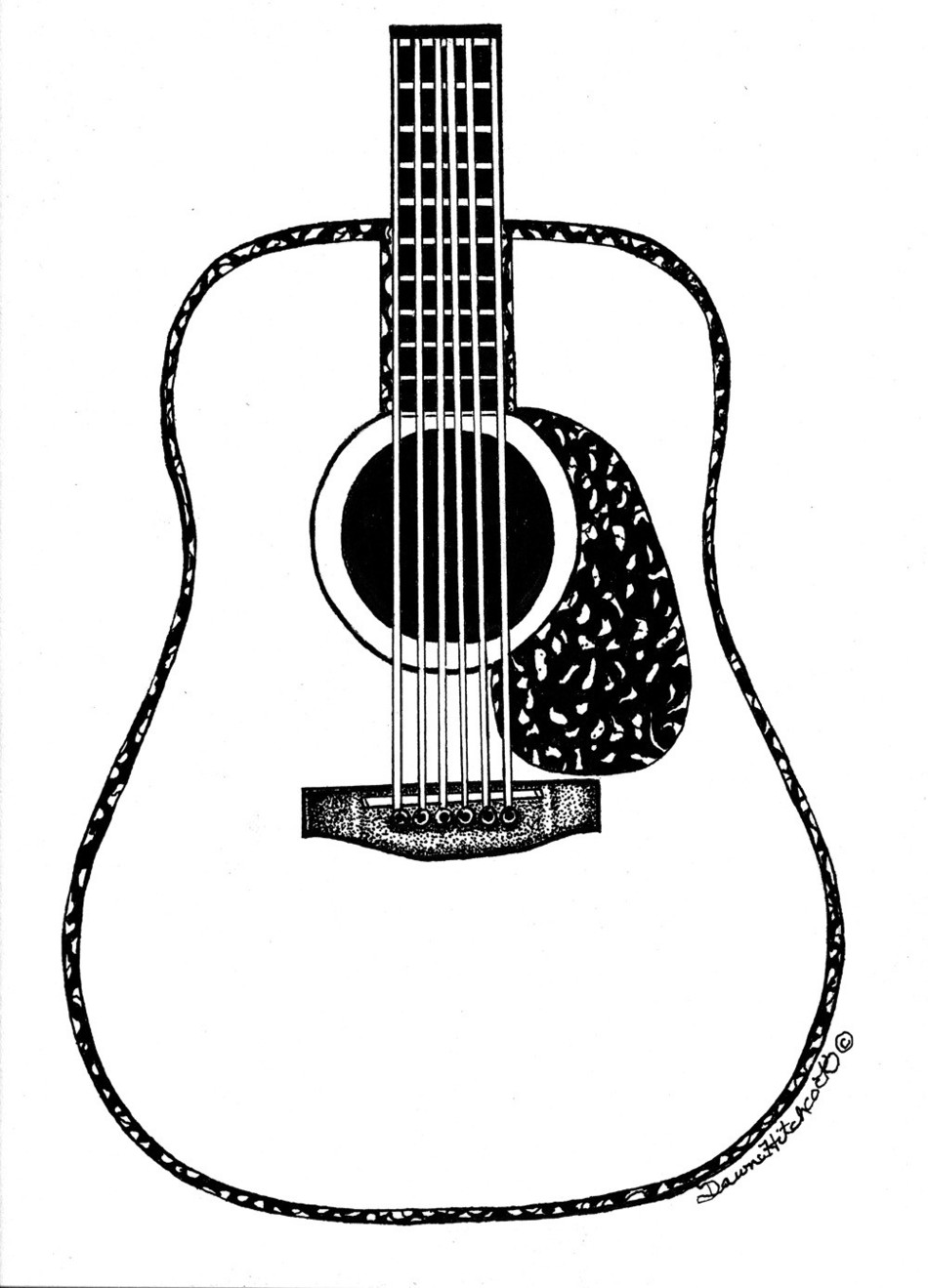 Drawing guitar