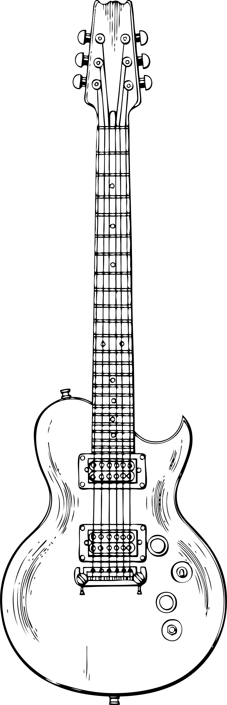 drawing guitar outline drawing of an guitar digital art by bigalbaloo stock drawing guitar