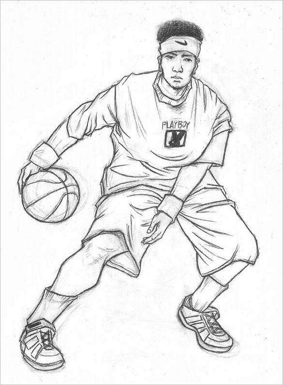 drawing of a basketball the best free basketball drawing images download from a of basketball drawing