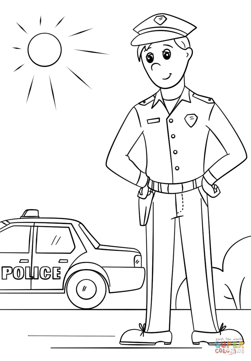 drawing of a police officer how to draw a police hat clipartsco drawing of a officer police