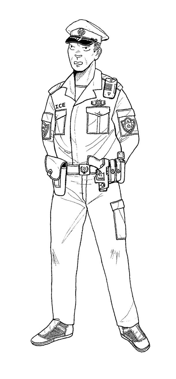 drawing of a police officer little policeman coloring page free clip art a officer of police drawing