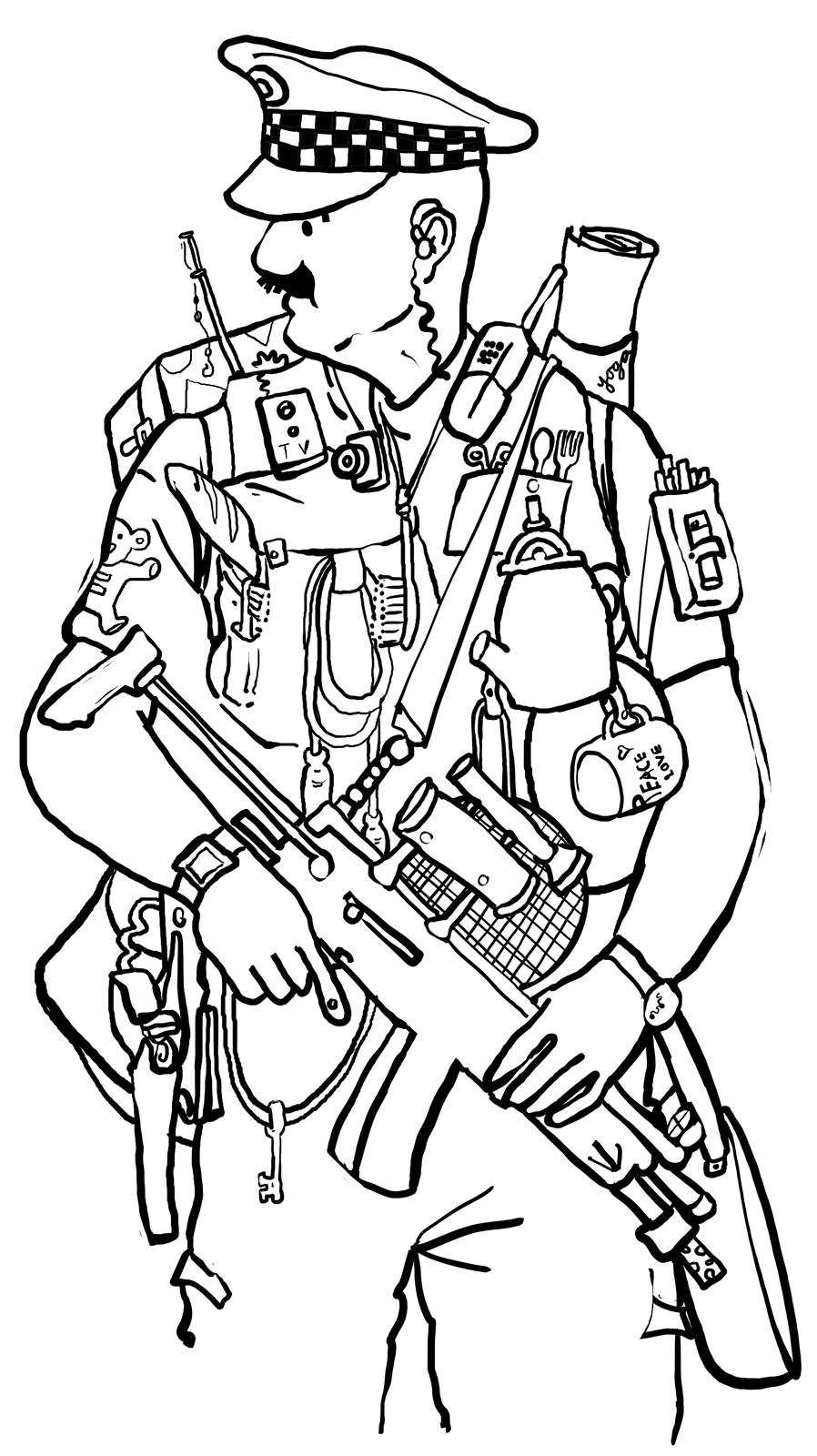 drawing of a police officer policeman drawing clipart best police a officer of drawing