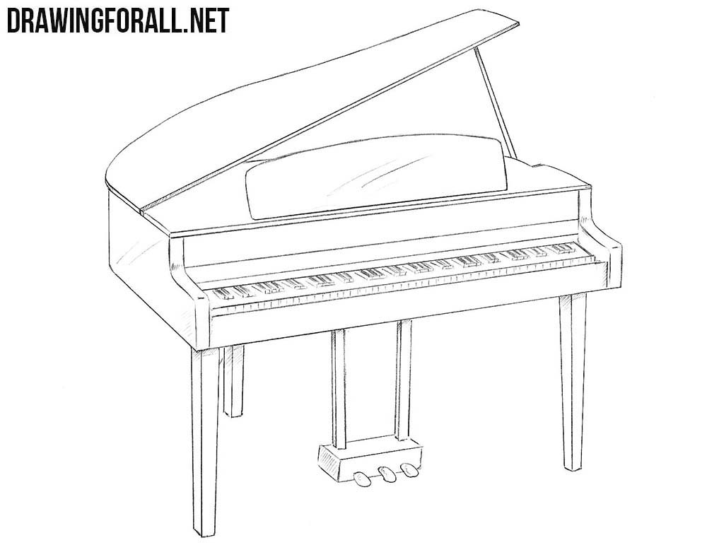 drawings of pianos black piano black and white musical instrument playing drawings pianos of