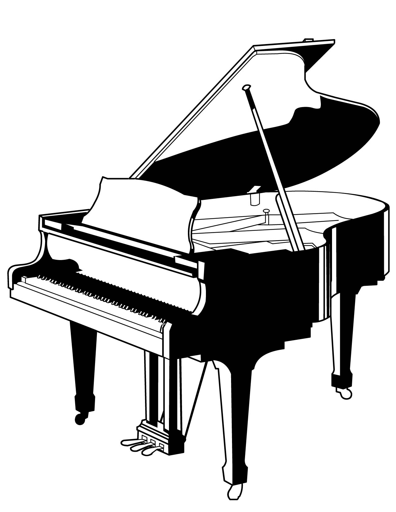 drawings of pianos electric back of piano clipart 20 free cliparts download of pianos drawings
