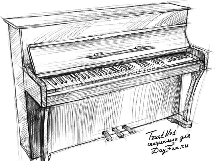Drawings of pianos