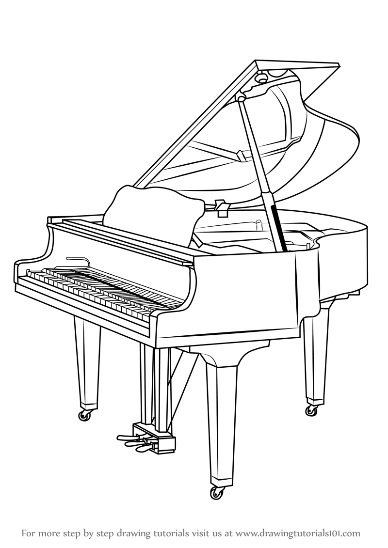 drawings of pianos upright piano sketch at paintingvalleycom explore drawings of pianos
