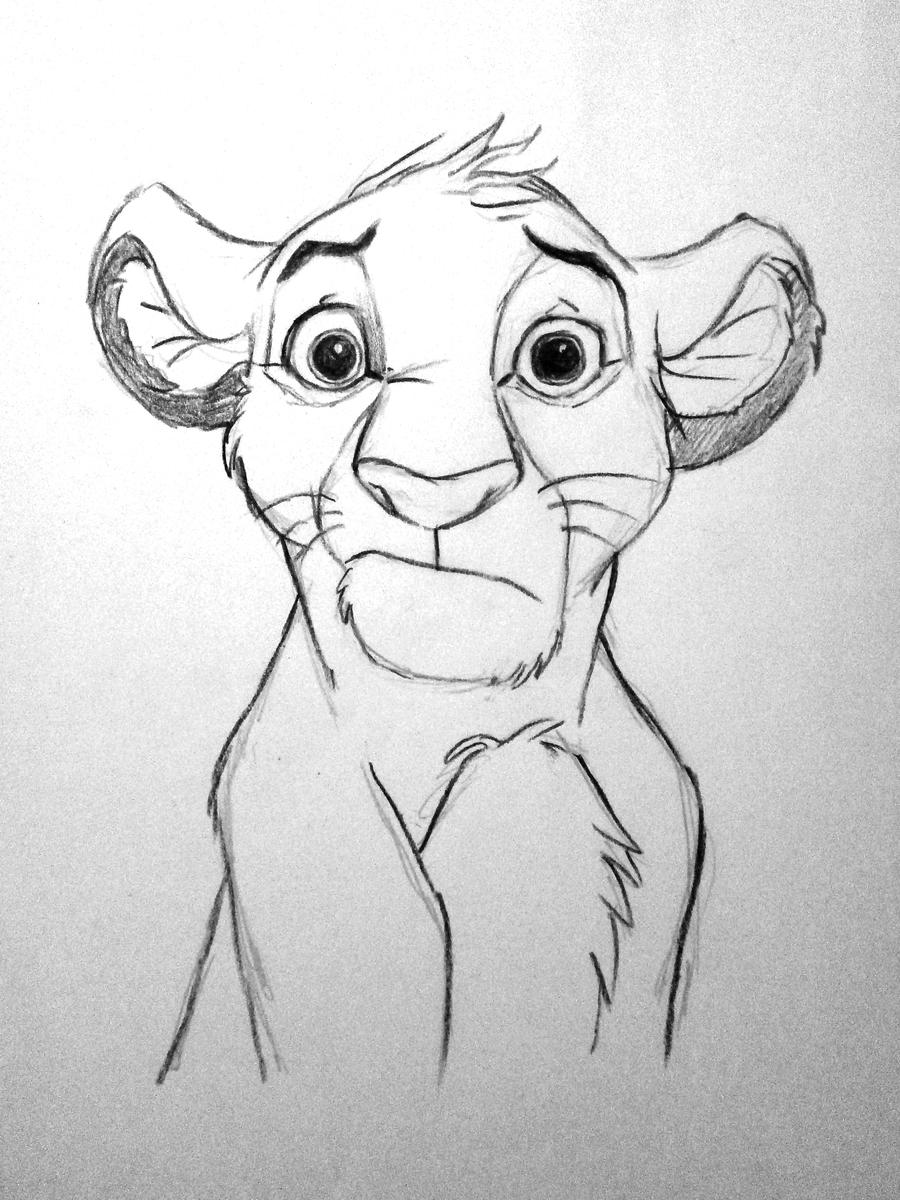 drawings of simba draw simba from the lion king youtube of simba drawings