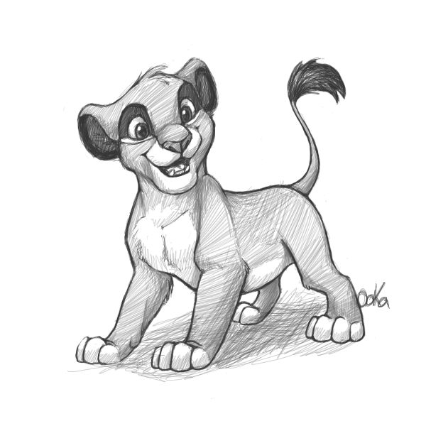 drawings of simba simba sketch at paintingvalleycom explore collection of of simba drawings