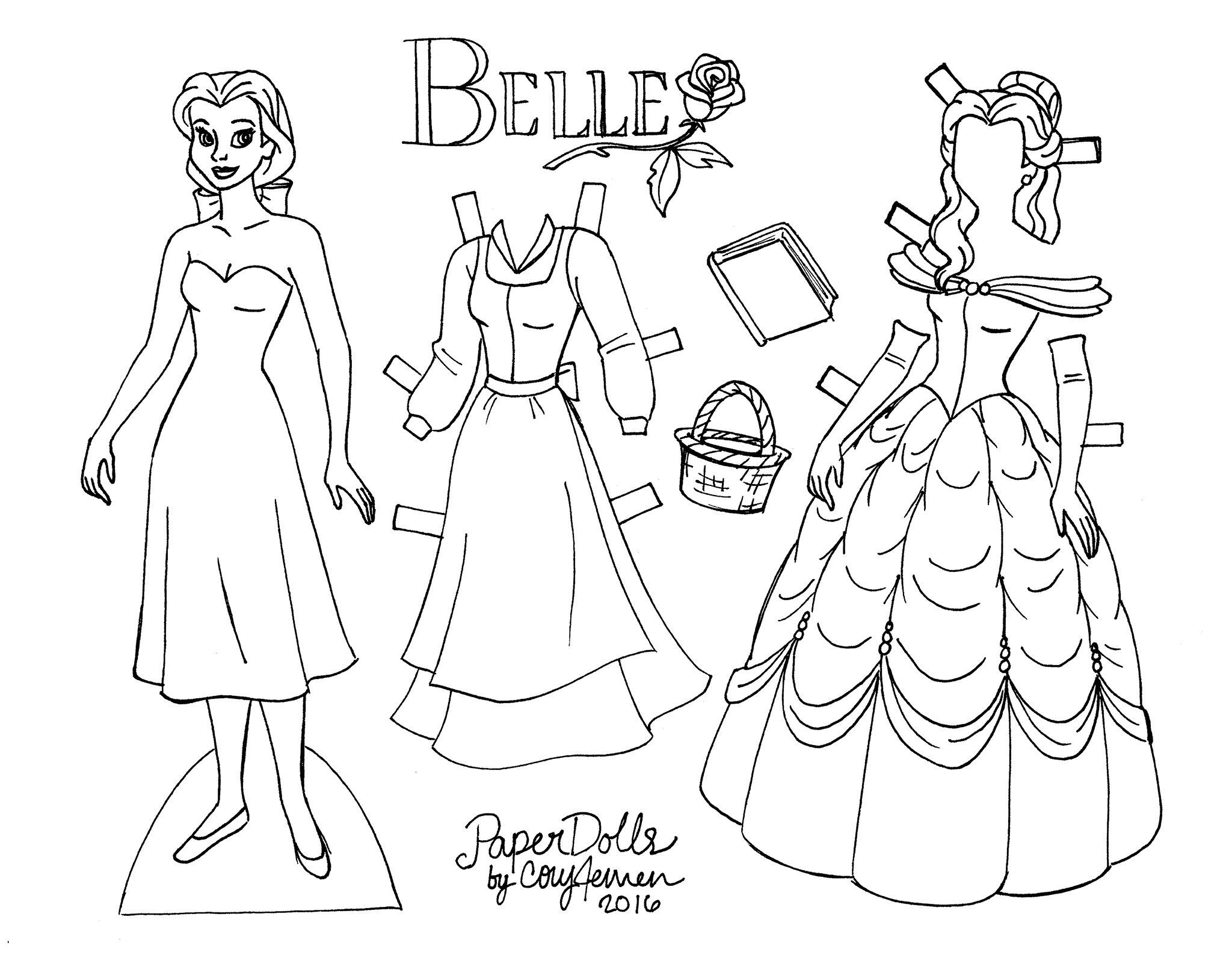 dress up dolls printable belle paper doll to color from the original animated film up printable dolls dress