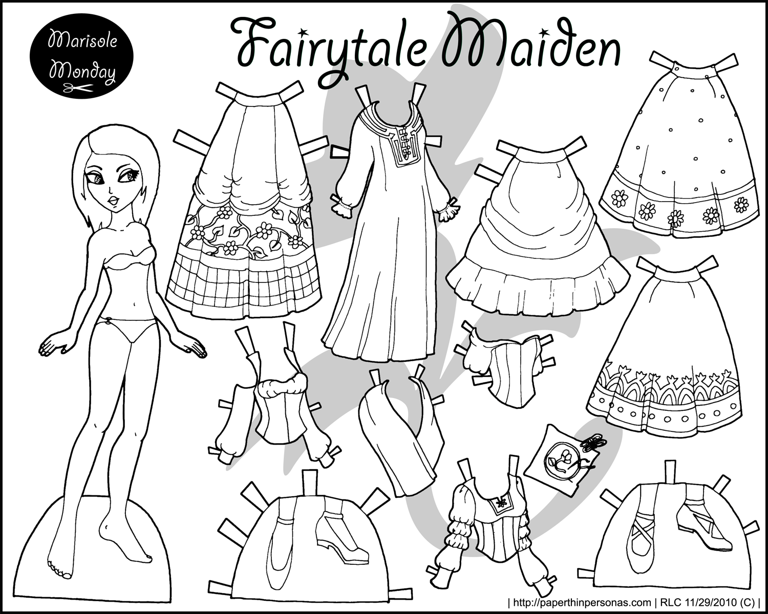 dress up dolls printable four paper dolls in black and white for coloring printable up dress dolls